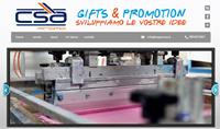 www.csapromo.it sito web di CSA Promo, realizzazione di gadget e stampa digitale.
